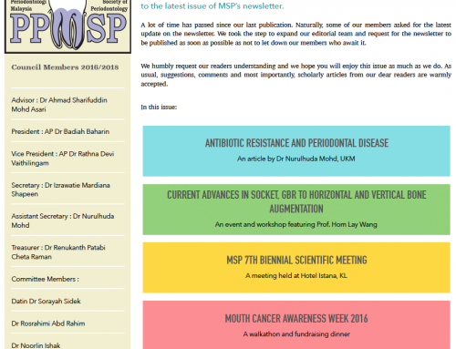 MSP Newsletter Volume 3 Issue 3 (SEPT-DEC 2016)