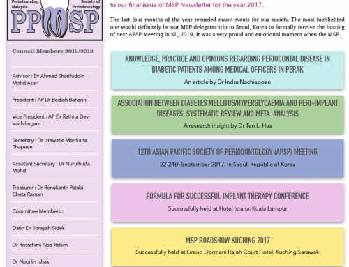 MSP Newsletter Volume 4 Issue 3 ( SEPT-DEC 2017)